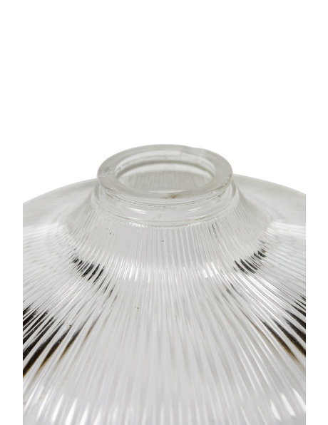 Industrial Glass Lampshade, Clear Glass