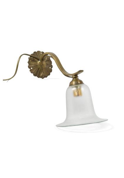 Klassieke Wandlamp, Glazen Rokkapje