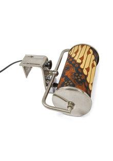 Bedside lamp, Wall lamp with Batik Shade