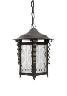 Old Pendant Lamp, Lantern, 1940s
