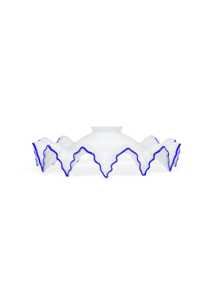 Beautiful Lampshade with Blue Jagged Edge