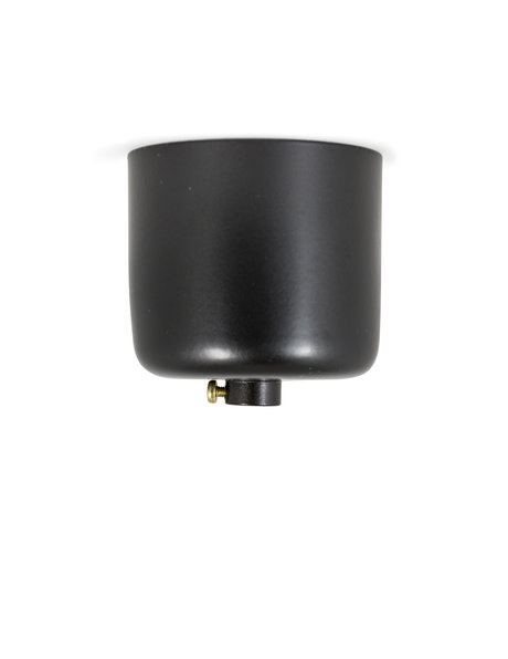 Black coloured Ceiling Plate, 5cm (2 inch) high model, with adjusting ring