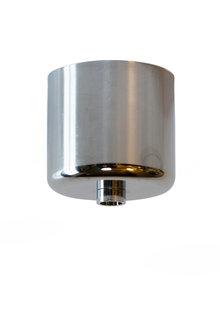 Plafondkapje, chroom, cilindrisch