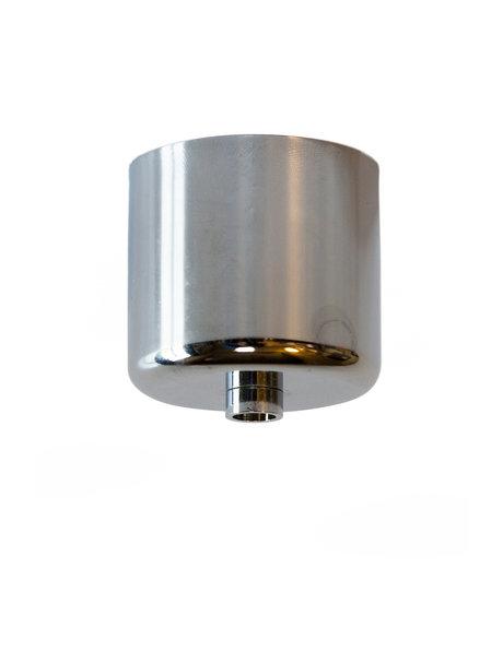 Plafondkapje, glimmend chroom, cilindrisch