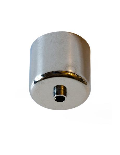 Ceiling plate, shiny chrome, cylindrical