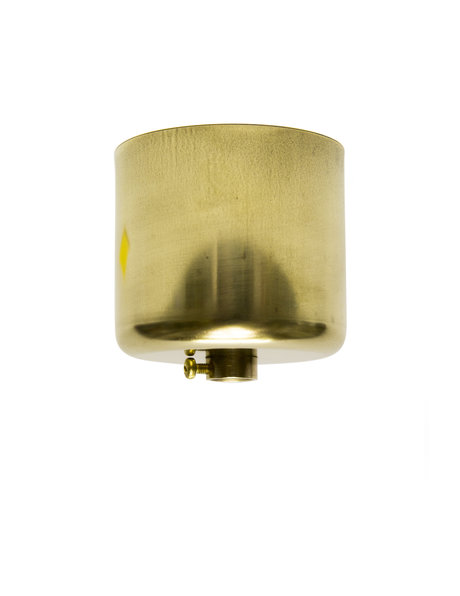 Gold coloured Ceiling Plate, 5cm (2 inch) high model, with mounted adjusting ring