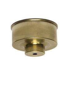 Ceiling Cap, Brass, sleek model