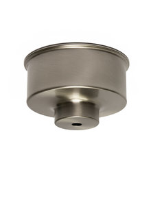 Ceiling cap, matt nickel, sleek model