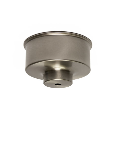 Ceiling plate, sleek model, nickel, matt