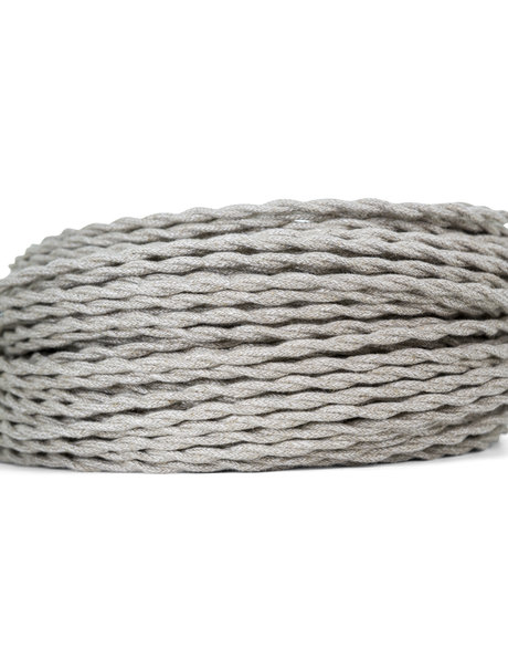 Electricity cord, cloth covered, 2-wire braided