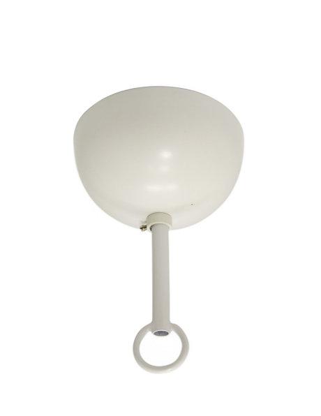 Plafondkapje, gecoat metaal in het wit, complete set