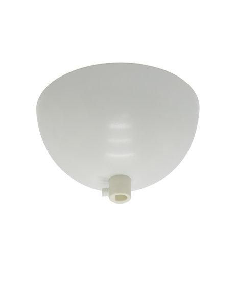 Ceiling Plate, white, complete set, hemisphere (half ball shape)
