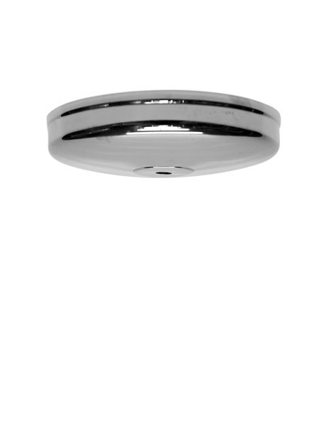 Ceiling Plate, Shiny Silver, Flat