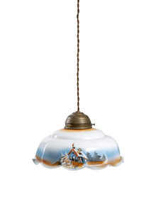 Brocante Pendant Lamp with Snowy Landscape