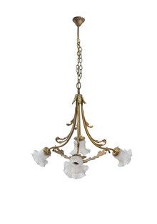Hanglamp met Vier Glazen Kappen