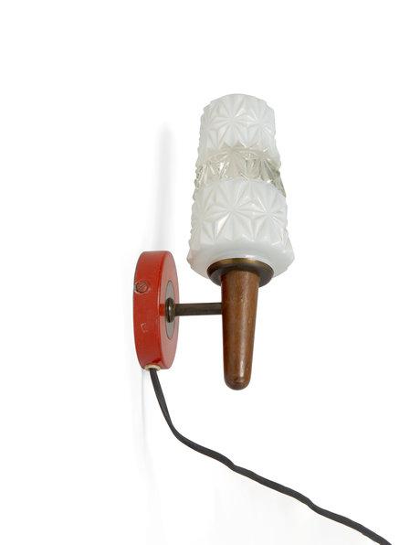 Wandlamp vintage, jaren 50 toorts