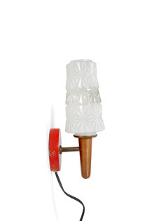 Vintage Wall Lamp, Wooden Torch