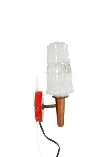 Vintage Wandlamp, Houten Toorts