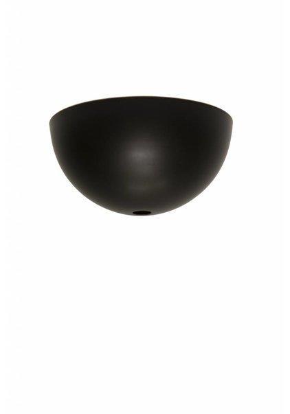 Plafondkap Zwart, halve bol