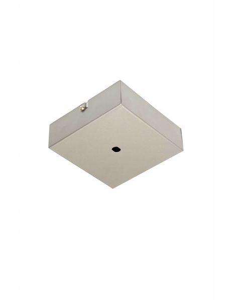 Vierkante Plafondkap, licht grijze coating