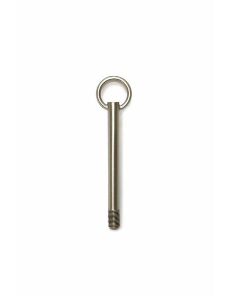 12.0 cm / 4.7 inch long adjusting tube in matt nickel with 1.0 cm / 0.39 inch (M10x1) thread
