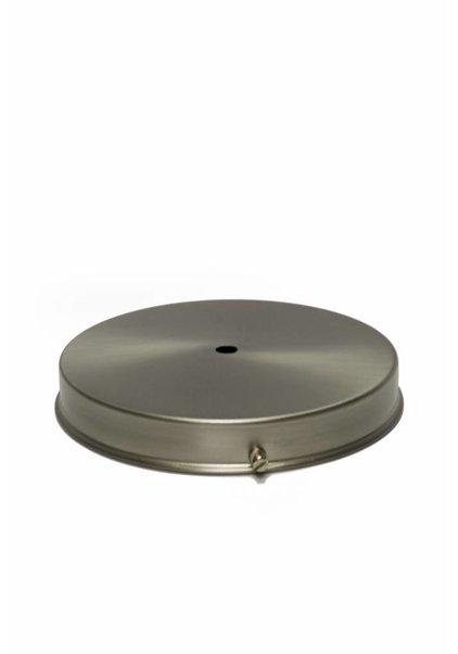 Lampenkaphouder, mat nikkel, 15 cm