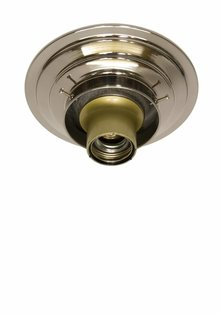 Ceiling Lamp Ring, Chrome, 8 cm / 3.15 inch