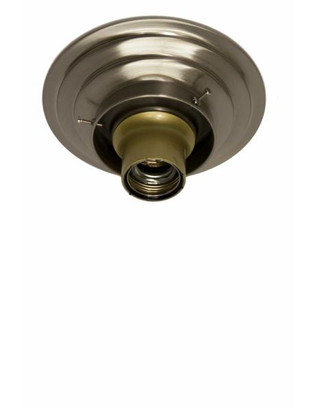 Ceiling lamp ring, matt nickel, for lamp glass with raised edge with a diameter of 8 cm / 3.2 inch