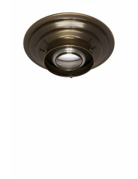 Plafondring, gepatineerd koper, voor lampglazen met een opstaande rand van maximaal 8,2 cm diameter