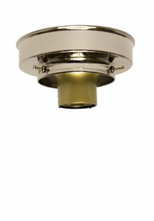 Ceiling Lamp Ring, Shiny Nickel, 8.0 cm / 3.15 inch
