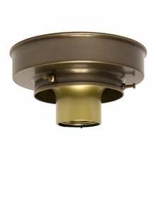 Ceiling Lamp Ring, Patinated Copper, 8.0 cm / 3.15 inch