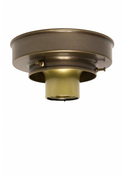 Plafonniere ring, gepatineerd koper, 8 cm