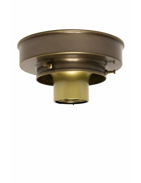 Ceiling lamp ring, patinated copper, for lamp glasses with a raised edge, with a maximum diameter of 8 cm / 3.15 inch