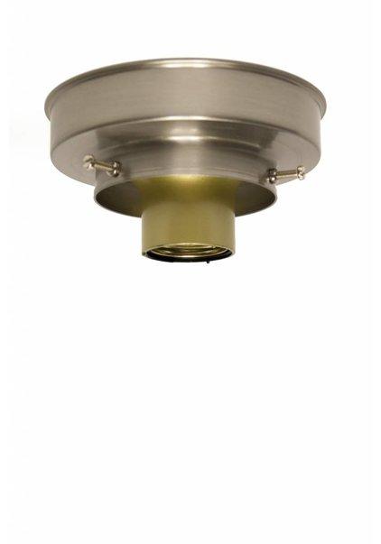 Ceiling Lamp Ring, Nickel Matt, 8 cm / 3.2 inch