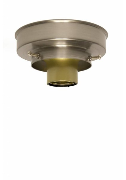 Plafonniere ring, nikkel mat, 8 cm