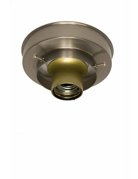 Ceiling lamp ring, matt nickel, sleek shape, raised edge ceiling lamp glass, maximum 8 cm / 3.2 inch