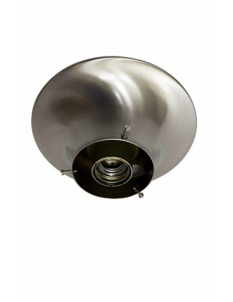 Ceiling lamp ring, matt nickel, for lamp glasses with raised edge of 10 cm / 3.9 inch diameter
