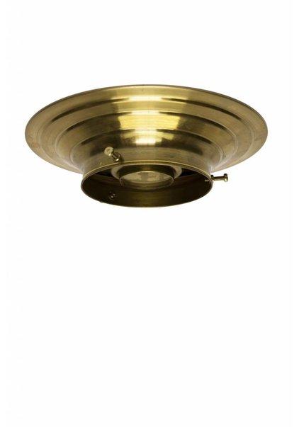 Plafond ring, goud koper, 10 cm.