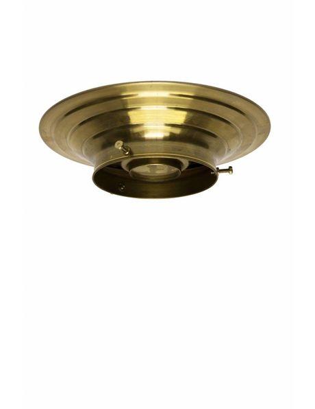 Plafonniere ring, goud koper, voor lampglazen met opstaande rand met een maximale diameter van 10 cm