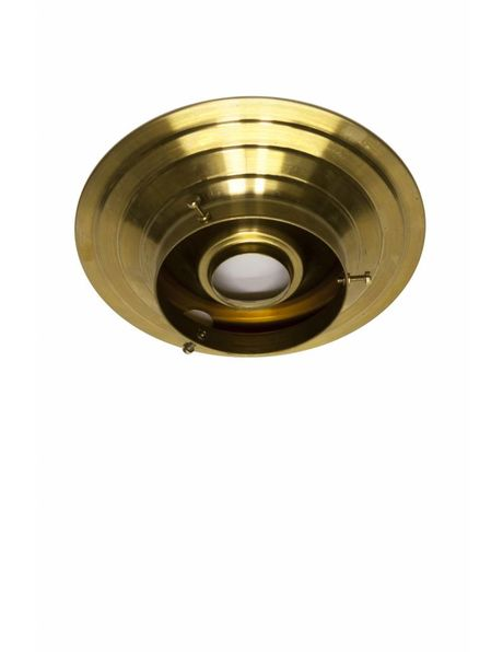 Ceiling lamp ring, gold brass, for lamp glasses with raised edge with a max diameter of 10.0  cm / 3.94 inch