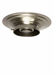 Plafonniere ring, mat nikkel, 10 cm.