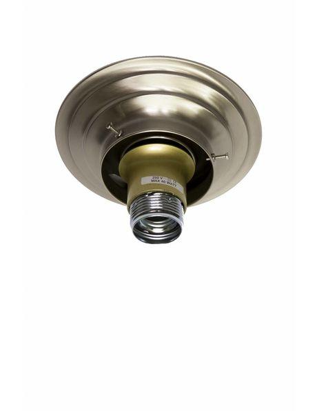 Lamp Ceiling Ring, matt nickel, diameter of the raised edge of the lens is maximum 10.0  cm / 3.94 inch