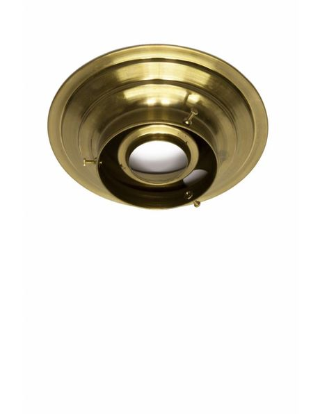 Ceiling fixture, gold copper, with 8 cm / 3.15 inch handle
