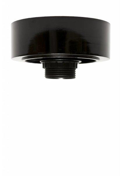 Plafonniere ring, zwart plastic, 8.5 cm