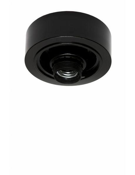 Plafondring, zwart kunststof voor lampglazen met schroefdraad diameter: 8.5 cm