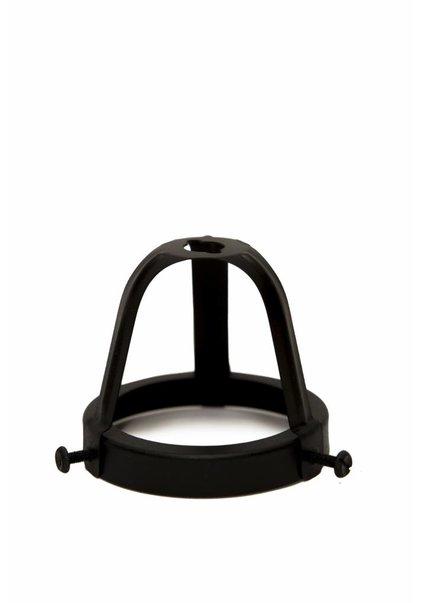 Lamp Shade Holder, Black, 6 cm / 2.36 inch, Open Model
