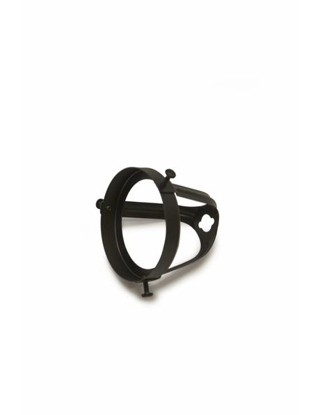 Lampenkaphouder, 6 cm, zwart, open en hoog model