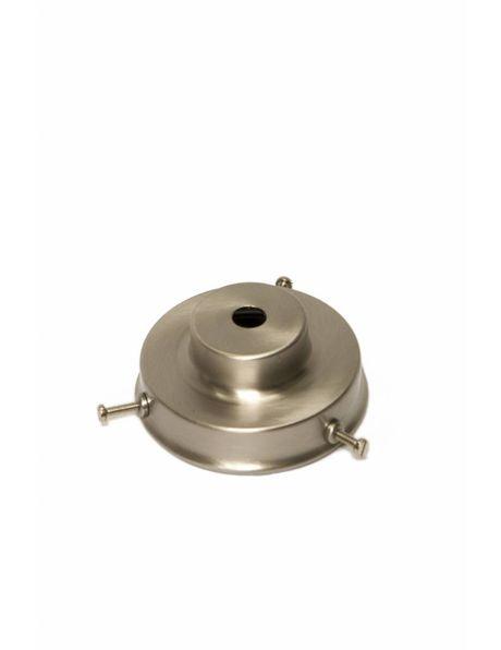 Lampenkaphouder, 6 cm, mat nikkel, trap vormig