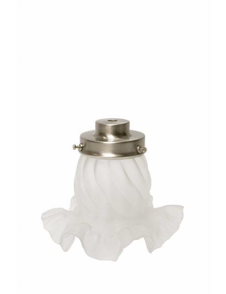 Lamp shade holder, 6cm / 2.4 in, nickel, stair shaped