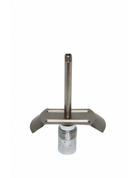 8 cm Lange glasdrager voor het bevestigen van oude lampenkapjes zonder opstaande fittingrand